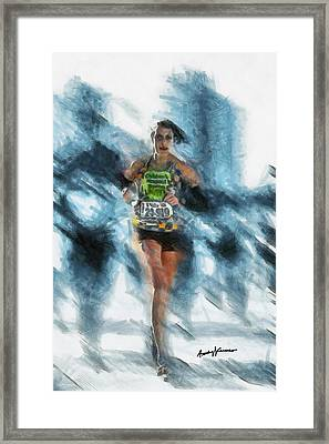 Runner Framed Print by Anthony Caruso