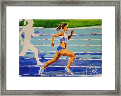 Runner I Framed Print by Bachmors Artist
