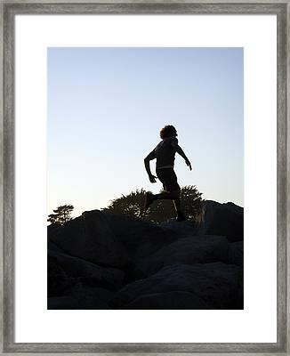 Runner Framed Print by Marilyn Hunt