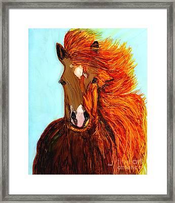 Running Free Framed Print by Eunice Warfel