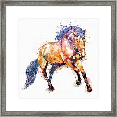 Running Horse Framed Print by Marian Voicu