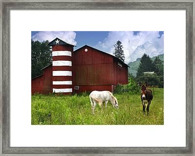 Rural America Framed Print by Lori Deiter