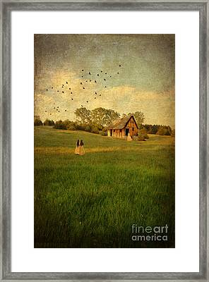 Rural Cottage Framed Print by Jill Battaglia