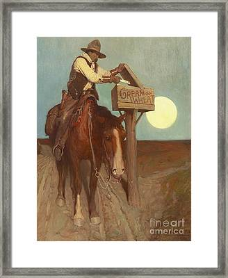Rural Delivery Framed Print by Newell Convers Wyeth