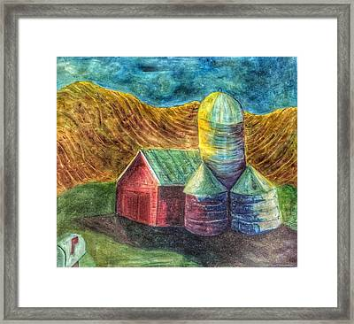 Rural Farm Framed Print by Jame Hayes