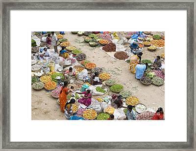 Rural Indian Food Market Framed Print by Tim Gainey