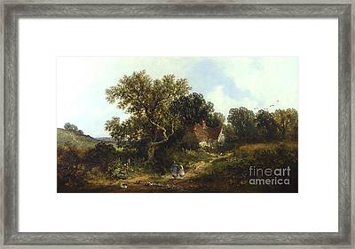 Rural Landscape  Framed Print by James Edwin Meadows