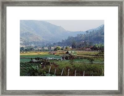 Rural Scene Near Chiang Mai, Thailand Framed Print by Bilderbuch