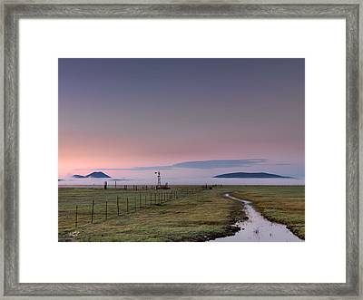 Rural Sunrise Framed Print by Leland D Howard