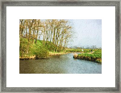 Rural Winter Landscape - Painterly Framed Print by Pati Photography