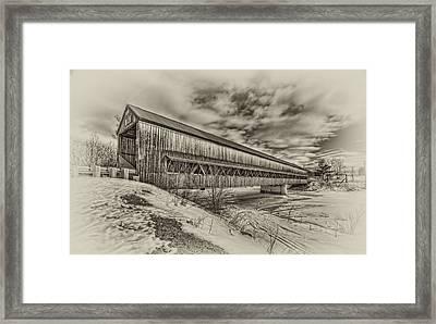 Rusagonish Covered Bridge Framed Print by Jason Bennett