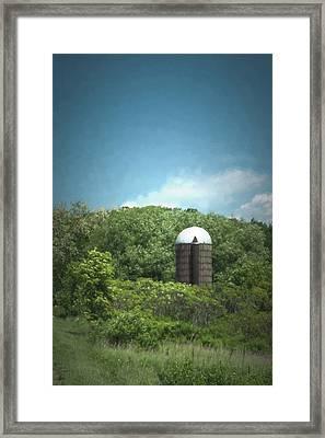 Rushford Silo Framed Print by Guy Whiteley