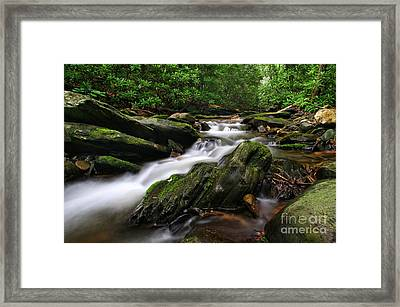 Rushing By Framed Print by Darren Fisher