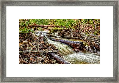 Rushing Stream Framed Print by Christopher Holmes