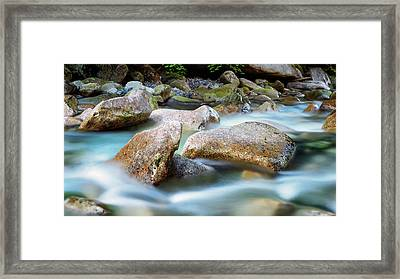 Rushing Water Framed Print by Stephen Stookey