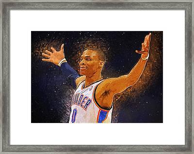 Russell Westbrook Framed Print by Semih Yurdabak