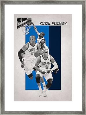 Russell Westbrook Thunder Framed Print by Joe Hamilton