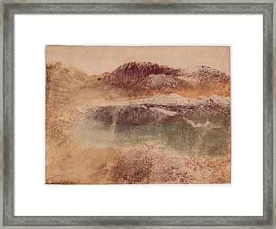 Russet Landscape 1890 Framed Print by Edgar Degas