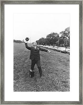 Russian Forward Pass Framed Print by Underwood Archives