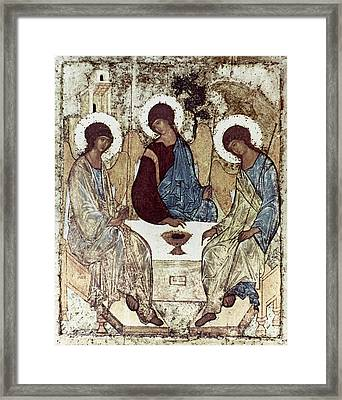 Russian Icons: The Trinity Framed Print by Granger