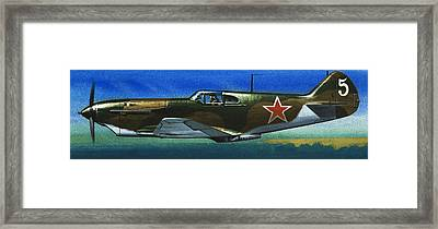 Russian Lavochkin Fighter During World War Two Framed Print by Wilf Hardy