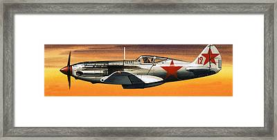 Russian Mikoyan-gurevich Fighter Framed Print by Wilf Hardy