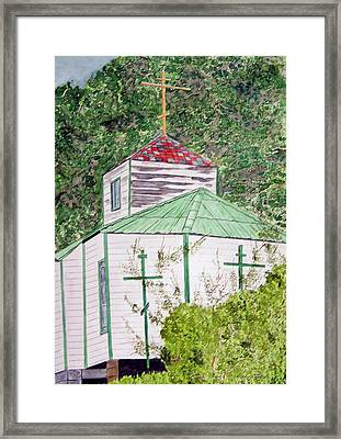 Russian Orthodox In Hoonah Framed Print by Larry Wright