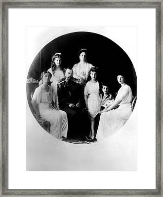 Russian Royal Family Left To Right Framed Print by Everett