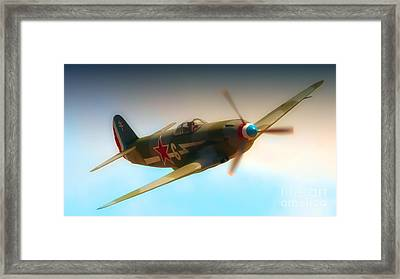 Russian Yak No.6  2011 Chino Air Show Framed Print by Gus McCrea