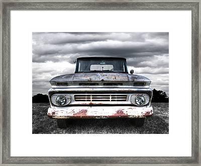 Rust And Proud - 62 Chevy Fleetside Framed Print by Gill Billington