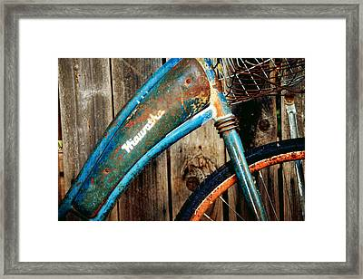 Rusted And Weathered Framed Print by Toni Hopper
