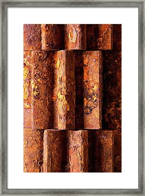 Rusted Gears 2 Framed Print by Jim Hughes
