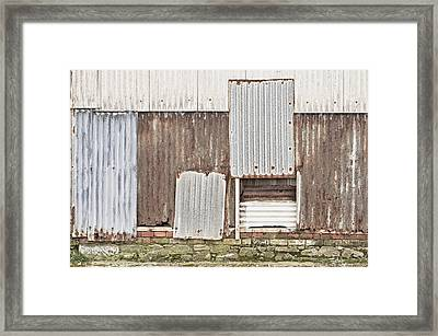 Rusted Metal Framed Print by Tom Gowanlock