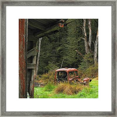 Rusted Truck Framed Print by Barry Culling
