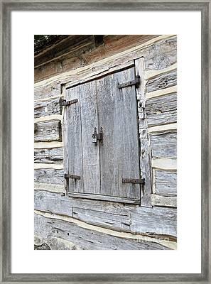 Rustic Cabin Window Framed Print by Carol Groenen