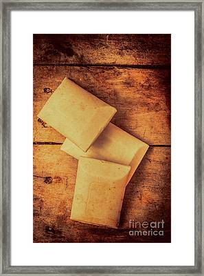 Rustic Country Soap Bars Framed Print by Jorgo Photography - Wall Art Gallery