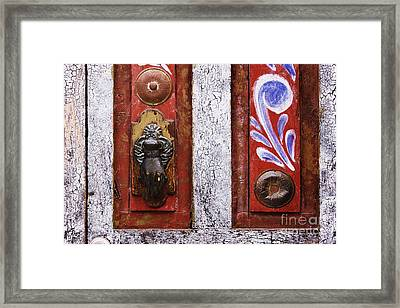 Rustic Door Framed Print by Jeremy Woodhouse