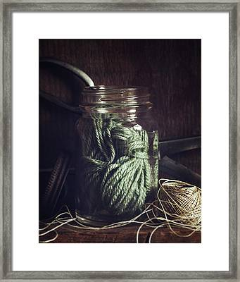 Rustic Green Framed Print by Amy Weiss