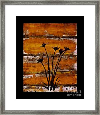 Rustic Log Cabin Framed Print by Marsha Heiken