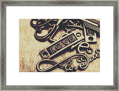 Rustic Love Icons Framed Print by Jorgo Photography - Wall Art Gallery