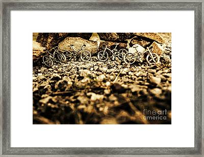 Rustic Mountain Bikes Framed Print by Jorgo Photography - Wall Art Gallery