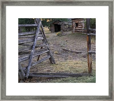 Rustic Pioneer History Framed Print by Leland D Howard