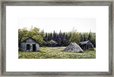 Rustic Remnants Framed Print by Richard Bean