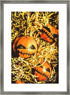 Rustic Rural Halloween Pumpkins Framed Print by Jorgo Photography - Wall Art Gallery