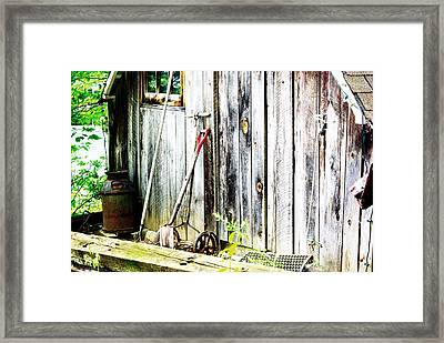 Rustic Shed Framed Print by Paul Wash