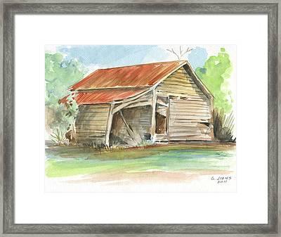 Rustic Southern Barn Framed Print by Greg Joens