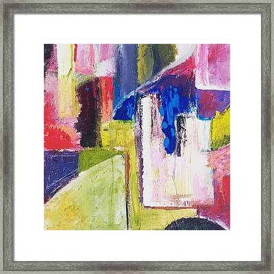 Rustic Abstract Framed Print by Malin Schramm