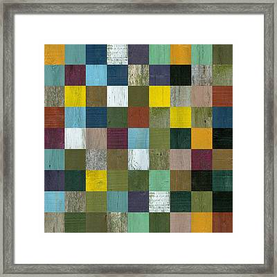 Rustic Wooden Abstract Framed Print by Michelle Calkins