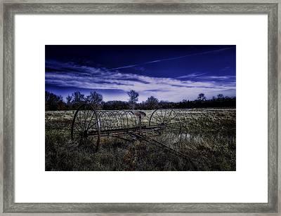 Rusting Away In Oklahoma Framed Print by David Longstreath