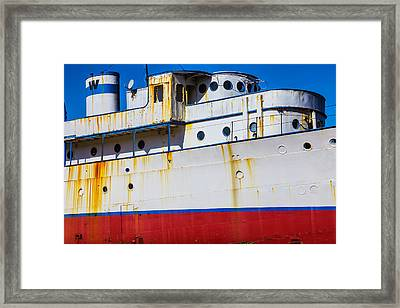 Rusting Cruise Liner Framed Print by Garry Gay